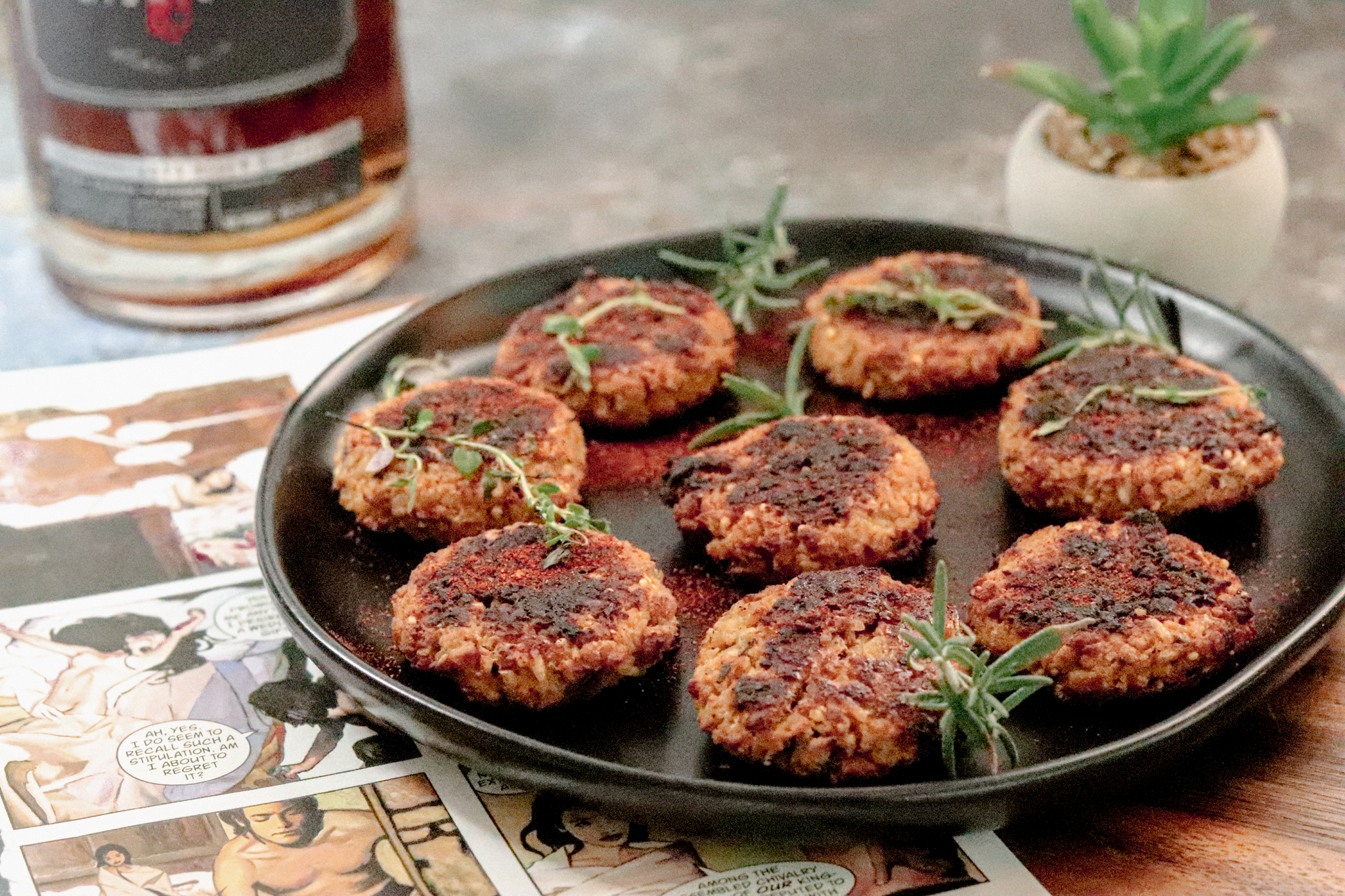 bourbon sausage patties