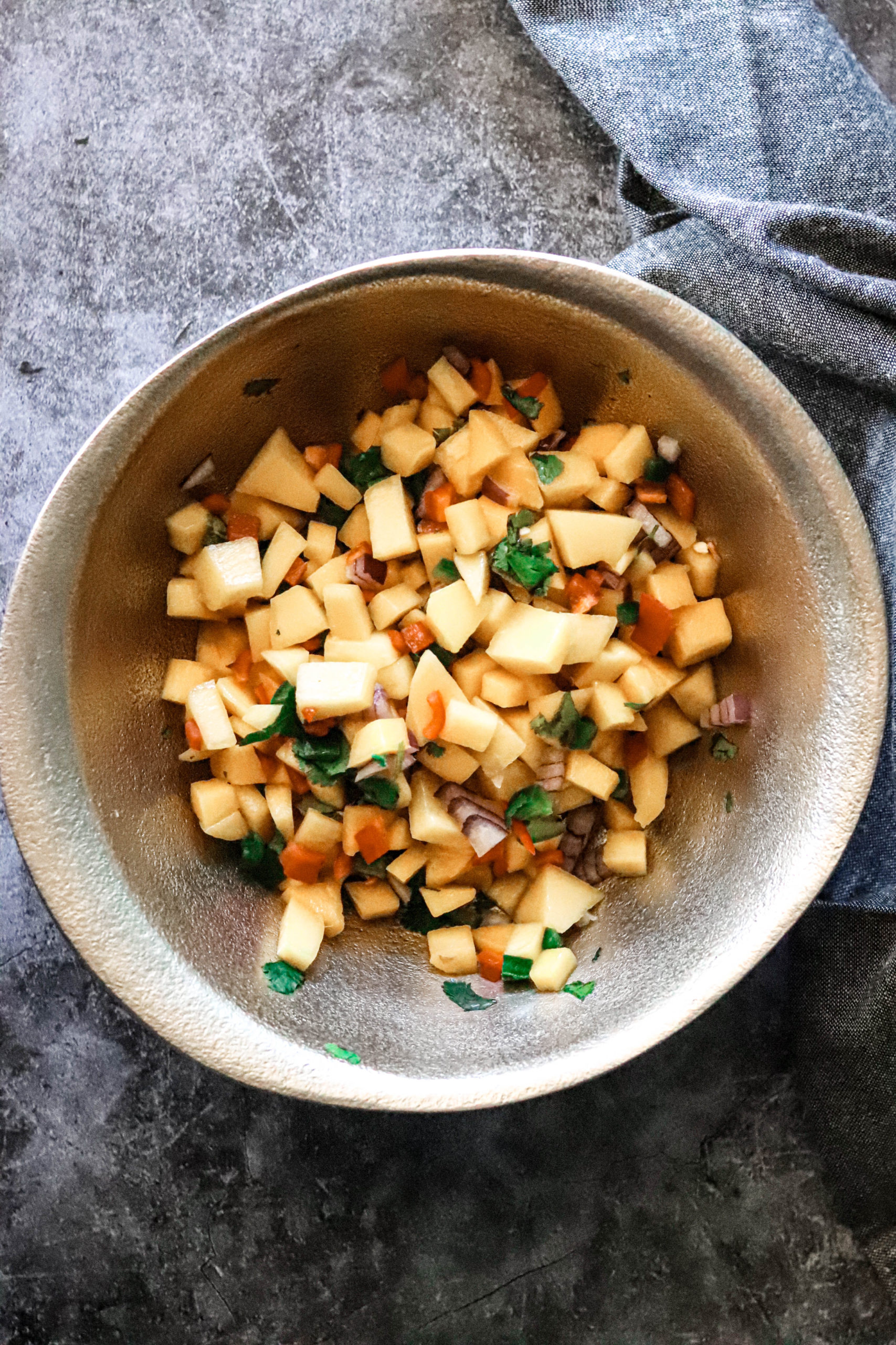 easy and quick mango salsa--sweet and savory edition.